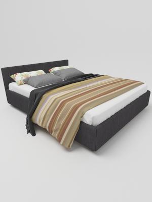 Кровать массив-ткань с матрасом