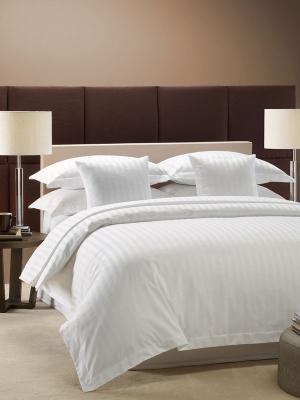 Комплект белья отель страйп-сатин 145-150гм2 (Премиум)