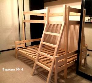 Кровать чердак односпально-двухспальная