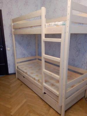 Кровать домашняя двухъярусная усиленная